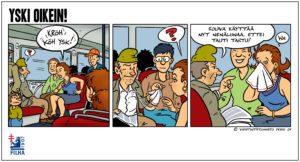 tuberkuloosi, yski oikein sarjakuva